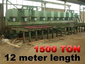 Bakker 1500 ton x 12 meter, Hydraulic press brakes