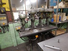 Drilling machine 5 heads, Meerspindelboormachines conventioneel & CNC
