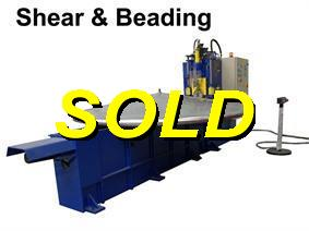 Lucas shear & beading machine, Hor+Vert profilemachines, section bending rolls & seam makingmachines