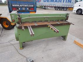 Fasti 1650 x 2 mm, Mechanical guillotine shears