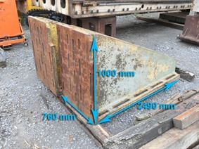 Clamping bracket 2490 x 1000 x 760 mm, Cubic- & angleplates or tables