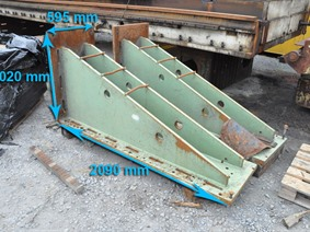 Clamping bracket 2090 x 1020 x 595 mm, Cubic- & angleplates or tables