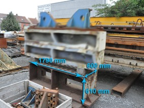 Clamping bloc 1790 x 600 x 610 mm, Cubic- & angleplates or tables
