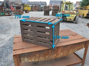 Clamping bloc 770 x 510 x 465 mm, Cubic- & angleplates or tables