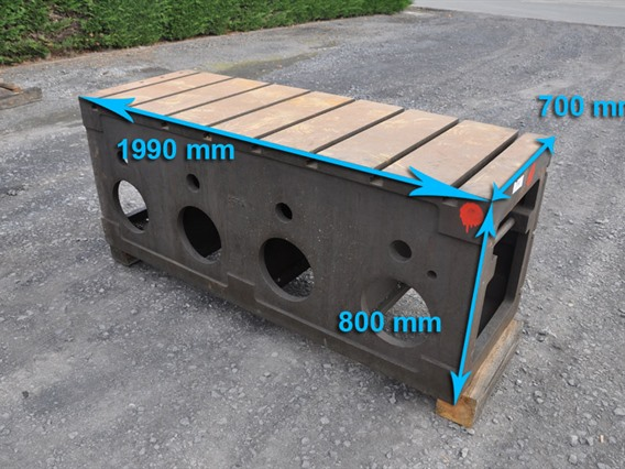 Clamping bloc, 1990 x 800 x 700 mm