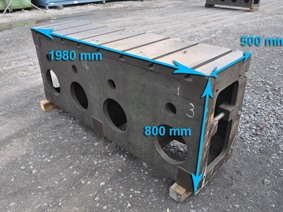 Clamping bloc 1980 x 800 x 500 mm, Cubic- & angleplates or tables