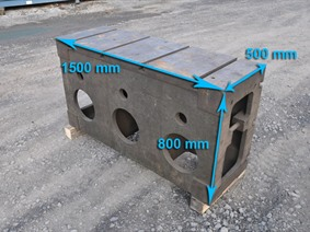 Clamping bloc 1500 x 800 x 500 mm, Cubic- & angleplates or tables