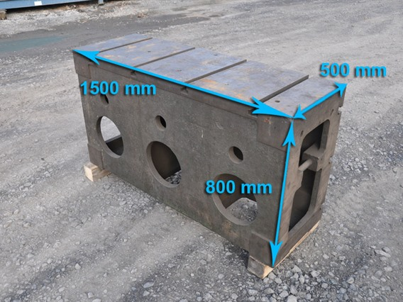 Clamping bloc, 1500 x 800 x 500 mm