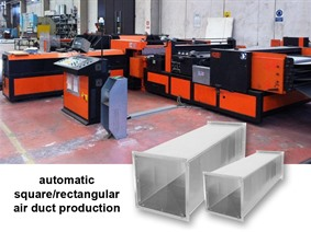 CR Electronic Square air ducts production line, Abwickel- + / oder Profielstrassen