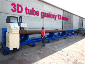 Stako 3D Tube cutting 13 meter, Gas cuttingmachines (gas + plasma)
