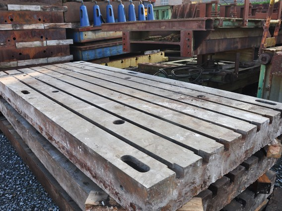 T-slot Table, 3500 x 1525 x 205 mm