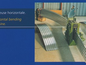 Techni Profil bending roll for corrugated sheets, Rundbiegemaschinen