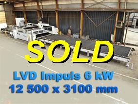 LVD Impuls 12 500 x 3100 mm 6 kW, Laser cutting machines