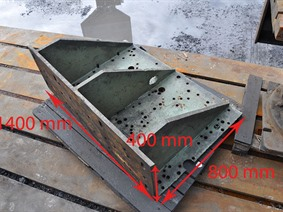 Clamping bracket 1400 x 800 x 400 mm, Cubic- & angleplates or tables