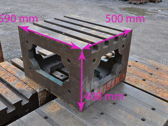 Clamping bloc, 590 x 500 x 400 mm