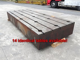 T-slot Table 3900 x 1600 x 500 mm, Tables & Floorplates