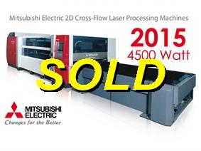 Mitsubishi 3000 x 1500 mm 4,5 kW, Laser cutting machines