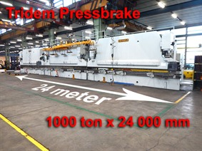 Mengele 1000 ton x 24 000 mm CNC, Hydraulic press brakes