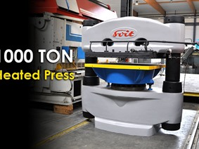 Svit 1000 ton heated press, H-frame presses