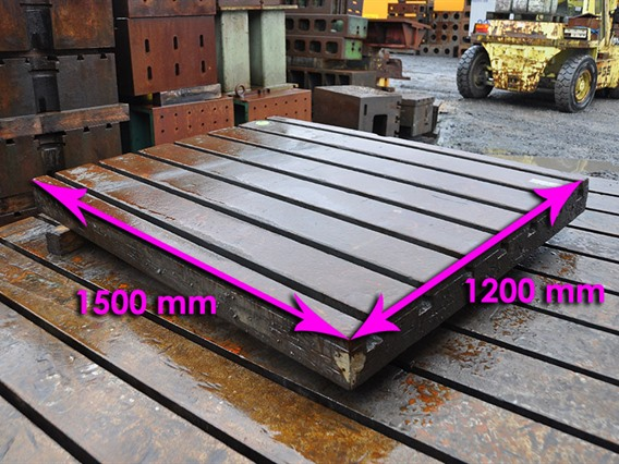 T-slot Table, 1500 x 1200 x 125 mm
