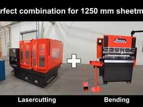 Amada Laser + Pressbrake 1250 mm, Laser cutting machines