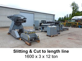 Iowa Slitting & cut to length 1600 x 3 x 12 ton, Abwickel- + / oder Profielstrassen