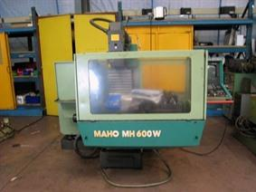 Maho MH 600W CNC X:600 - Y:400 - Z:400 mm, Bedfreesmachines / Beweegbare tafel conventioneel & CNC