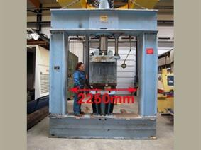 Quiri 150 ton Dish end forming press, Presses a border