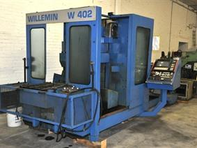 Willemin Macodel W402 CNC X:600 - Y:300 - Z:490mm, Horizontal machining centers