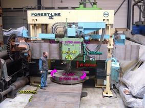 Forest Line Vegamill TA 323 Ø 3240 x H 1350 mm, Portaal freesmachines & Gantry freesmachines conventioneel &CNC