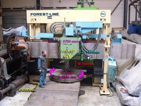 Forest Line Vegamill TA 323 Ø 3240 x H 1350 mm, Vertical turning machines conventional & CNC