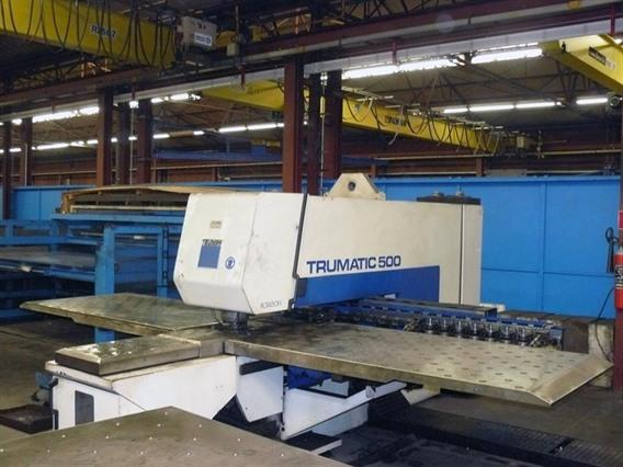 Trumpf Trumatic 500R-1300 CNC, Stamping & punching press thin metalsheet