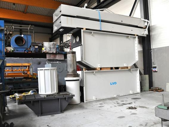 LVD 600 ton Dish end forming press, Flanging presses