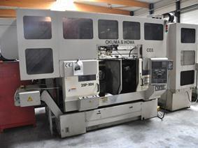 Okuma 2SP-30H Twin Spindle CNC + gantry robot, CNC Draaibanken