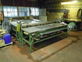 ZM wide conveyor cutting system for woven mesh, Abwickel & schneiden am lange strasse