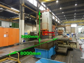 Kollman CNC EL-G 120 - X:8000 - Y: 3000 - Z: 900 mm , Borers with travelling column, floor type