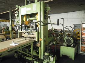 Schalch 150 T + decoiler/feeder/cut to length, Presses a excentrique a 2 montants