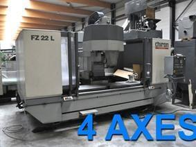 Chiron FZ 22 L X: 2200 - Y: 520 - Z: 425 mm, Bed milling machine with moving column & CNC