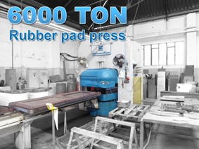 Sip 6000 ton rubber pad press, Presses a deux montants