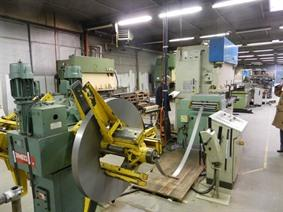 Dimeco decoil./ straight LVD punchpress + rollforming, Open gap presses