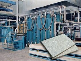Siempelkamp panel press for fibre boards & sandwich panels, Dubbelkolomspersen