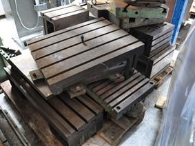 Various clamping blocks , Cubic- & angleplates or tables