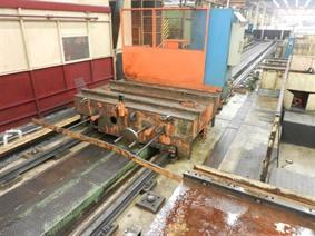 Transportwagon on rails 13 000 mm, Bed milling machine with moving column & CNC