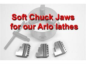Soft Chuck Jaws for Arlo lathes, Pieces detachees pour des tours