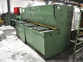Fasti 3100 x 6 mm CNC, Hydraulic guillotine shears