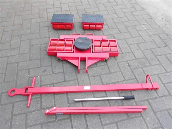 Trolley system for moving machinery 24 ton, Vehicles (lift trucks - loading - cleaning etc)