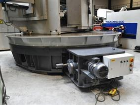 Turntable dia 4200 mm x 80 ton, Vertical turning machines conventional & CNC