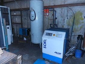 Alup SCK 42-8 screwcompressor + dryer, Stroomaggregaten & Compressoren