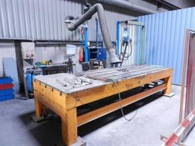 Welding table 4000 x 1500 x 250 mm, Tables & Floorplates