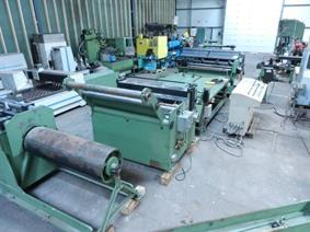 Gabella cut to length/slitting line 1550 x 2 mm CNC, Abwickel & schneiden am lange strasse